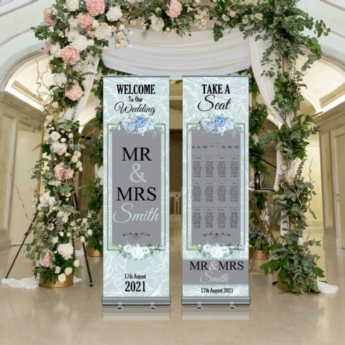Wedding Roller Banner N6 - Welcome to our Wedding / Table Seating Plan